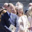 Le prince William et Kate Middleton, enceinte, à Westminster le 4 juin 2013 pour les 60 ans du couronnement d'Elizabeth II.