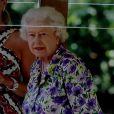 La reine Elizabeth II a fait une promenade fluviale sur la Tamise dans les environs du château de Windsor à bord de la barge Gloriana, le 9 juillet 2013, en compagnie de ses fils Andrew et Edward et de sa belle-fille Sophie de Wessex.