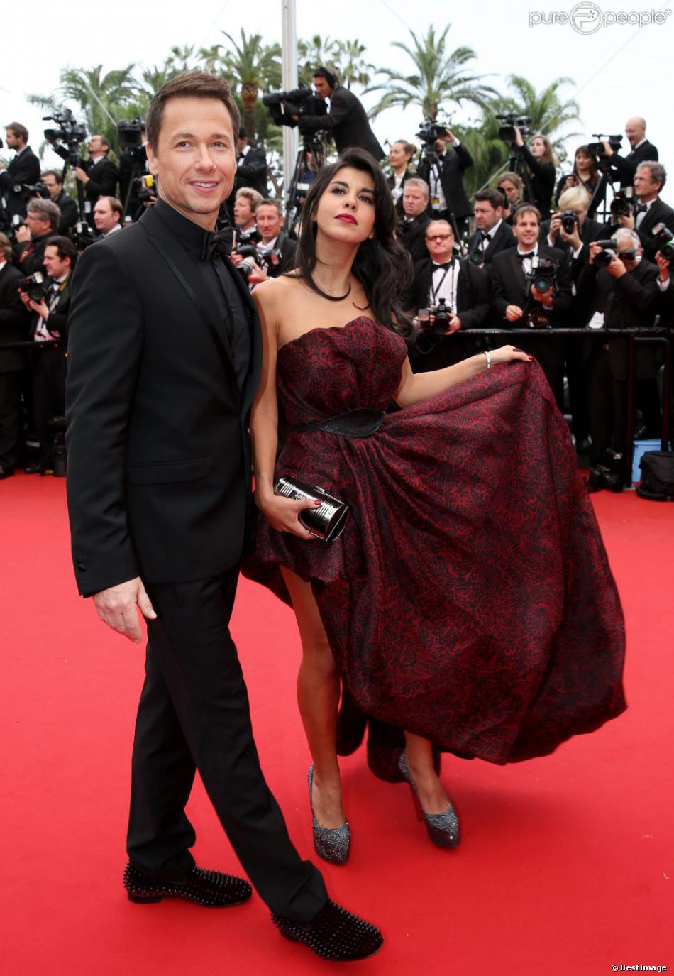 St phane rousseau et sa compagne reem kherici lors du festival de cannes le 16 mai 2013 - Stephane marie et sa compagne ...