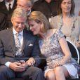 Le prince Philippe et la princesse Mathilde ont assisté au bal national à Bruxelles, le 20 juillet 2013.