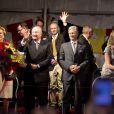 Le roi Albert II de Belgique et la reine Paola ont assisté au bal national à Bruxelles, le 20 juillet 2013.