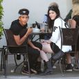 Exclusif - Jaden Smith, accompagné de sa soeur Willow, et de sa petite amie Kylie Jenner se sont retrouvés au  Urth Caffe  à West Hollywood, le 17 juillet 2013.
