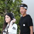 Exclusif - Jaden Smith et sa petite amie Kylie Jenner, à West Hollywood le 17 juillet 2013.