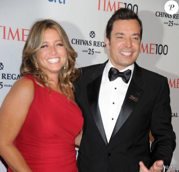 L'animateur Jimmy Fallon et Nancy Juvonen lors du gala du Time à New York le 23 avril 2013