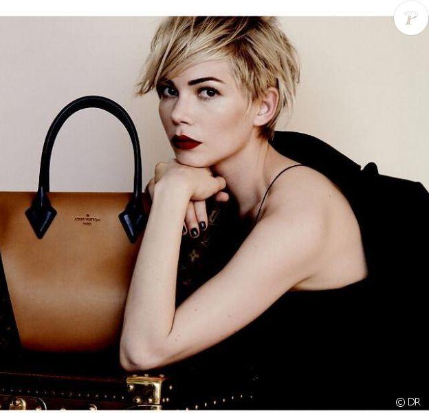 Michelle Williams photographiée par Peter Lindbergh pour la nouvelle campagne accessoires de Louis Vuitton.