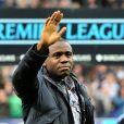 Fabrice Muamba de retour après son accident cardiaque au Reebok Stadium de Bolton le 2 mai 2012