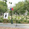 Le square Marie Trintignant dans le 4e arrondissement de Paris, le 13 mai 2007.