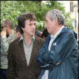 François Cluzet et Alain Corneau, deux hommes qui ont compté dans la vie de Marie - Inauguration du square Marie Trintignant dans le 4e arrondissement de Paris, le 13 mai 2007.