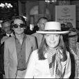 Romy Schneider et Daniel Biasini arrivant au Festival de Cannes 1978