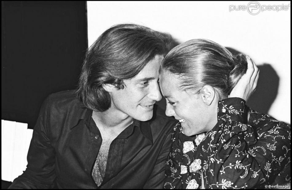 Romy Schneider et Daniel Biasini à Saint-Tropez en 1975
