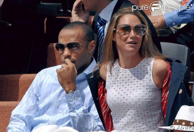 Thierry Henry et son ex-épouse Nicole Merry
