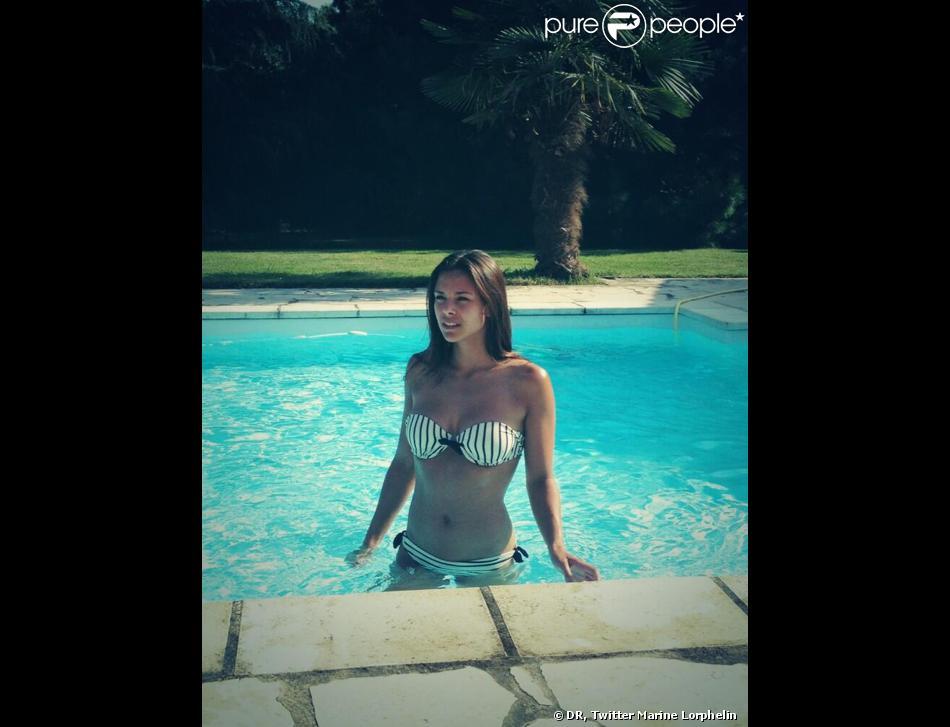 Marine Lorphelin ravissante en maillot de bain durant ses vacances