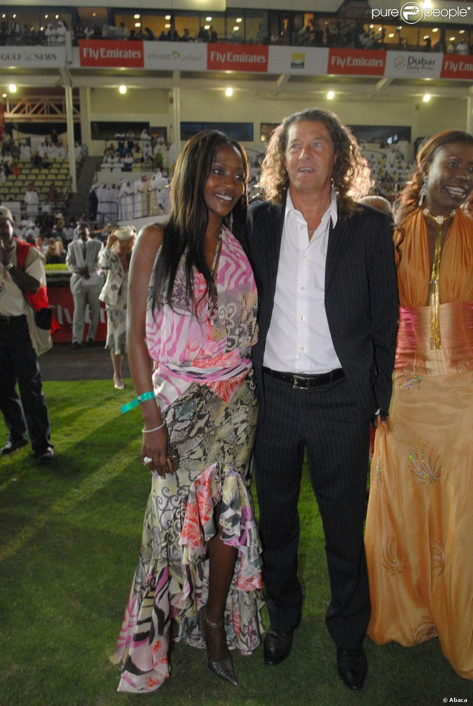 Bruno Metsu et son épouse lors de la Dubaï World Cup, course hépique se déroulant à Dubaï le 31 mars 2007