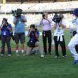 Cristiano Ronaldo lors du match entre les Dodgers de Los Angeles et les Yankees de New York à Los Angeles, le 31 juillet 2013