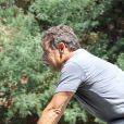 Nicolas Sarkozy, sportif et tenace pendant ses vacances au Cap Nègre près de Cavalaire, le 3 août 2013.