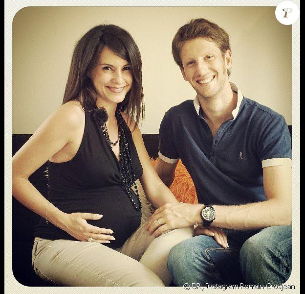 Marion Jollès-Grosjean et Romain Grosjean prenaient la pose il y a trois semaines. Ils sont aujourd'hui les heureux parents d'un petit garçon prénommé Sacha.