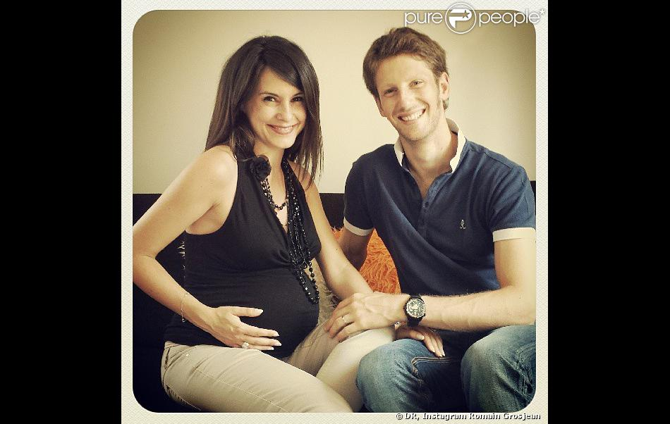 Photo of Romain Grosjean & his  Son  Simon Grosjean