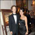 """Romain Grosjean et son épouse Marion Jollès-Grosjean - Dîner de bienfaisance """"Par coeur gala"""". A Paris, le 21 septembre 2009."""