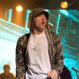 Eminem en concert privé lors de la soirée du 30e anniversaire de G-Shock à New York. Le 7 août 2013.