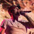 Eminem anime la soirée des 30 ans de G-Shock à New York. Le 7 août 2013.