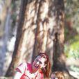 EXCLUSIVITE : Alyson Hannigan en famille dans un parc de Los Angeles, le 10 août 2013.
