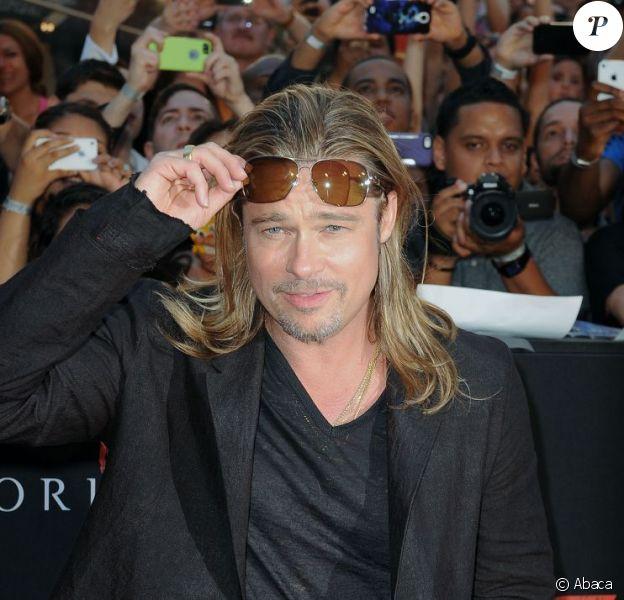 Brad Pitt à la première de World War Z à Times Square, New York, le 17 juin 2013.