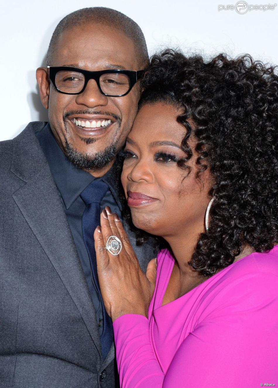 Oprah Winfrey et Forest Whitaker très complices et proches à la première du Majordome aux Regal Cinemas à Los Angeles, le 12 août 2013.