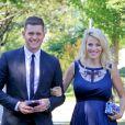 Michael Bublé et sa femme Luisana Lopilato, enceinte, vont au mariage d'un couple d'amis à Vancouver le 12 août 2013.