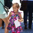 Valentina, la fille aînée d'Adriana Lima à Miami, le 13 août 2013.