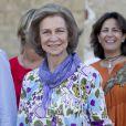 La reine Sofia d'Espagne visitait le 14 août 2013 l'Illa del Rei située dans l'embouchure du port de Mahon, à Minorque, dans le cadre d'un congrès visant à son classement au patrimoine mondial de l'humanité de l'UNESCO.