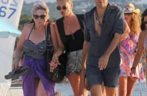 Kate Moss : Bain de soleil en bikini lors de vacances en Espagne