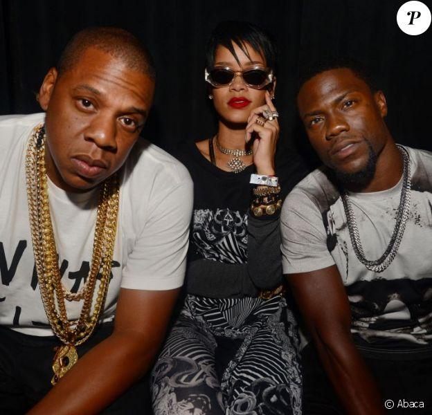 Rihanna et Kevin Hart assistent avec Jay Z à l'after-party de son concert à la Mansion. Miami, le 16 août 2013.