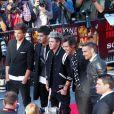 Les One Direction, à l'avant-première du film  This is us  des One Direction à Londres, le mardi 20 août 2013.