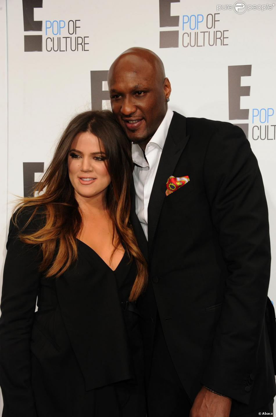 Khloé Kardashian et Lamar Odom à New York, le 30 avril 2013.
