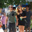 Dimanche 25 août 2013, le sexy Jonas Jonas s'offrait une virée dans les rues de New York avec sa chérie Blanda Eggenschwiler.