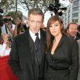Monica Bellucci et Vincent Cassel à Paris le 12 octobre 2008.