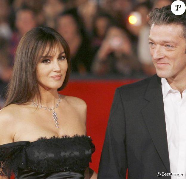 Le très beau couple Monica Bellucci et Vincent Cassel à Rome en octobre 2008.