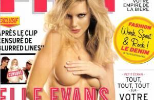 Elle Evans : L'autre bombe du clip 'Blurred Lines' de Robin Thicke pose nue