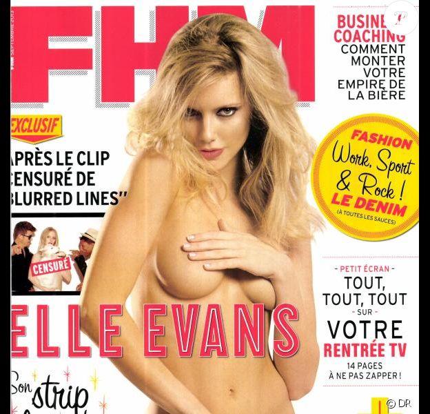 Elle Evans en couverture de FHM en septembre 2013.
