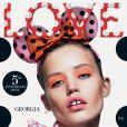 Georgia May Jagger en couverture du dixième numéro du magazine LOVE. Photo par Mert et Marcus.
