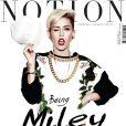 Miley Cyrus en couverture du magazine  Notion , en kiosques américains en août 2013.