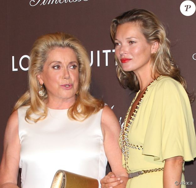 Catherine Deneuve et Kate Moss assistent au vernissage de l'exposition The Timeless Muses de Louis Vuitton au Tokyo Station Hotel. Tokyo, le 29 août 2013.