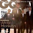 Le groupe Arctic Monkeys en couverture du numéro consacré aux Hommes de l'Année du magazine GQ. Octobre 2013.