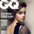 Emma Watson en couverture du numéro consacré aux Hommes de l'Année du magazine GQ. Octobre 2013.