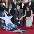 Jane Lynch a reçu son étoile sur le Walk of Fame d'Hollywood. Mercredi 4 septembre à Los Angeles.