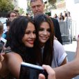 Selena Gomez arrive dans les studios de NRJ pour une interview, à Paris, le jeudi 5 septembre 2013.