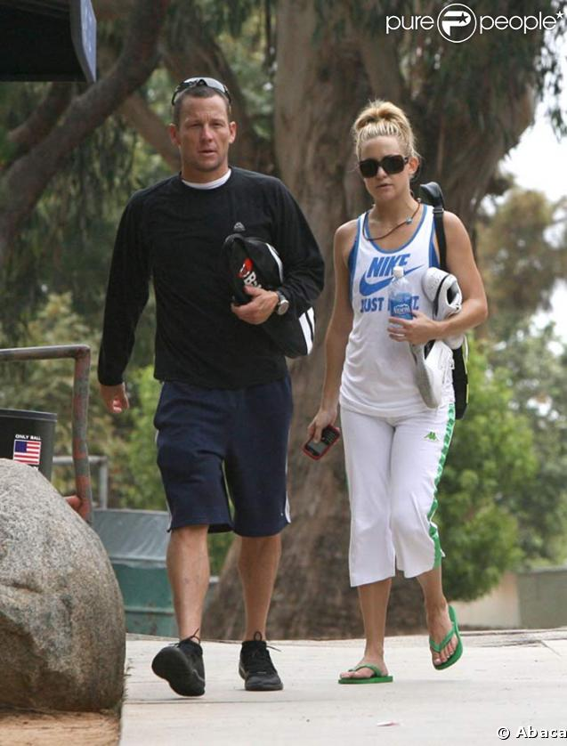 Lance Armstrong et Kate HudsonKate Hudson And Lance Armstrong