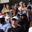 Naomi Campbell dans les gradins du court Arthur-Ashe pour la demi-finale Nadal-Gasquet de l'US Open 2013. Rafael Nadal a privé Richard Gasquet de finale à l'US Open en le battant (6-4, 7-6, 6-2) à New York le 7 septembre 2013.
