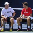 Stanislas Wawrinka a échoué de peu à faire trébucher Novak Djokovic, qui se qualifie pour la finale de l'US Open au prix d'un bras de fer épique le 7 septembre 2013 : 2-6, 7-6, 3-6, 6-3, 6-4.