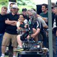 Katie Holmes sur le tournage de Miss Meadows à Cleveland, le 28 août 2013.
